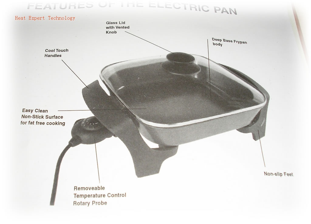 Electric frypan