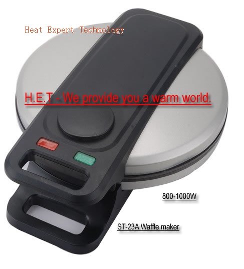 Waffle Maker with five hearts plates