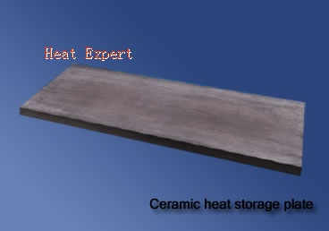 Ceramic heat storage plate