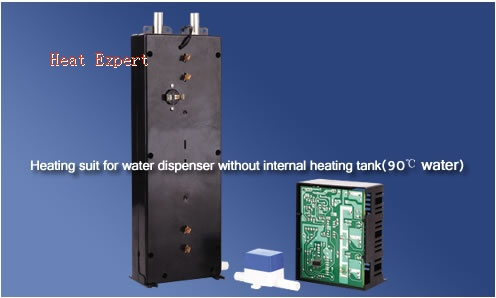 Heating suit for water dispenser without internal heating tank(90C water)
