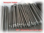 Immersion heaters,air heaters